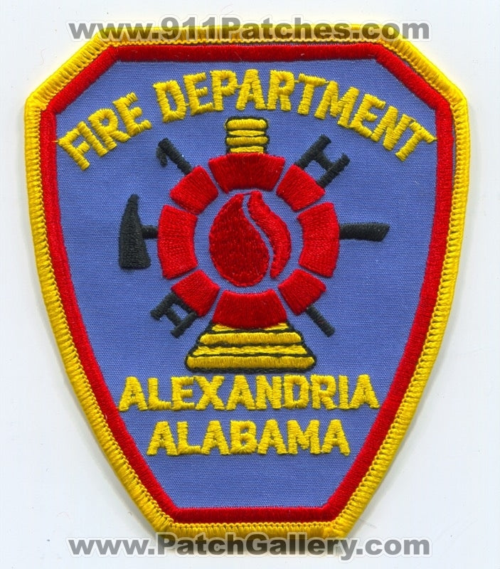 Alexandria Fire Department Patch Alabama AL