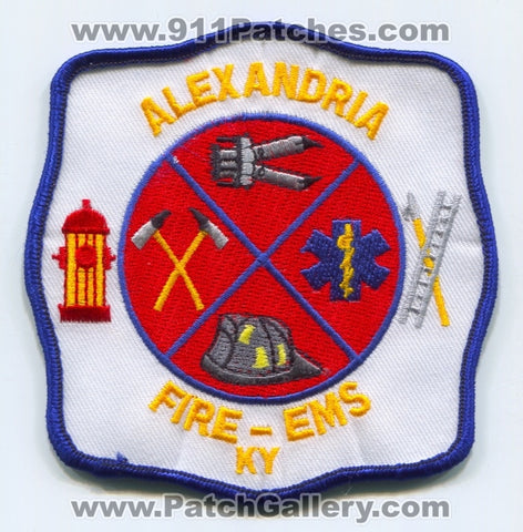 Alexandria Fire EMS Department Patch Kentucky KY