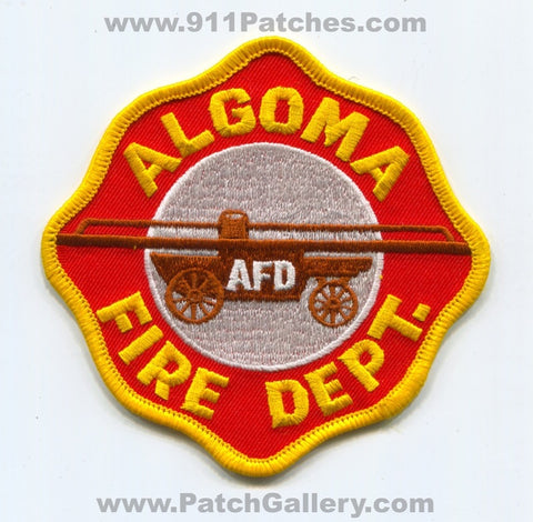 Algoma Fire Department Patch Mississippi MS