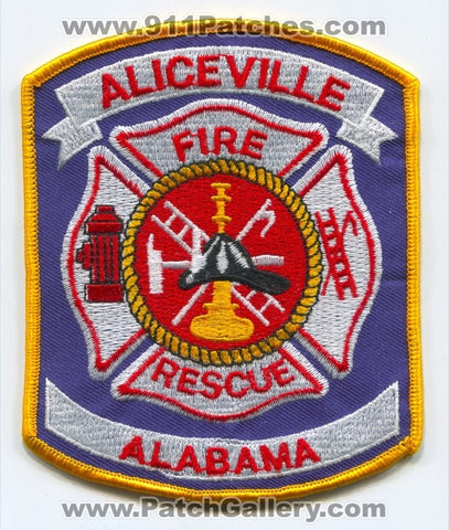 Aliceville Fire Rescue Department Patch Alabama AL