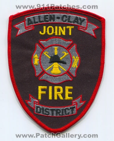Allen-Clay Joint Fire District Patch Ohio OH