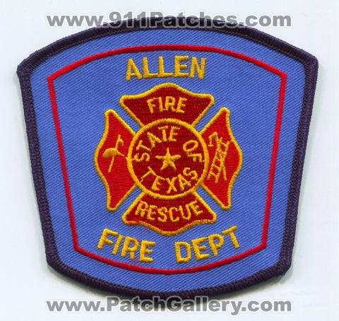 Allen Fire Rescue Department Patch Texas TX