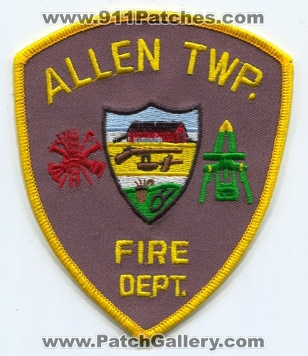 Allen Township Fire Department Patch Pennsylvania PA