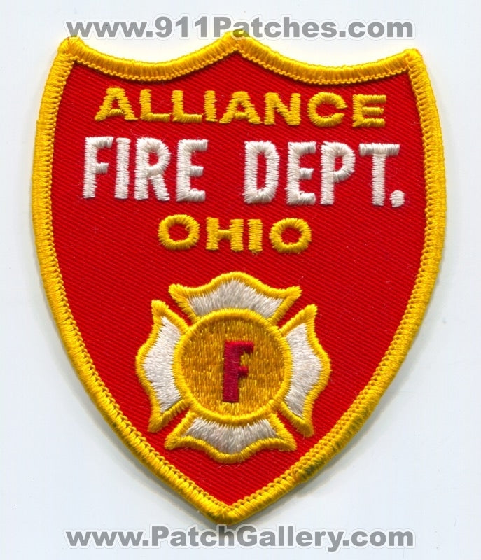 Alliance Fire Department Patch Ohio OH