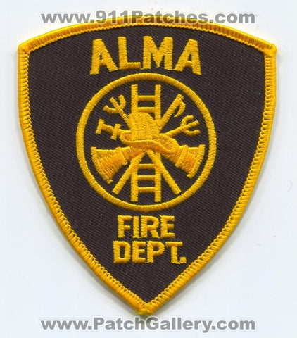 Alma Fire Department Patch Unknown State