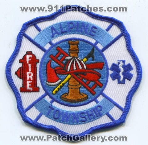 Alpine Township Fire Department Patch Michigan MI