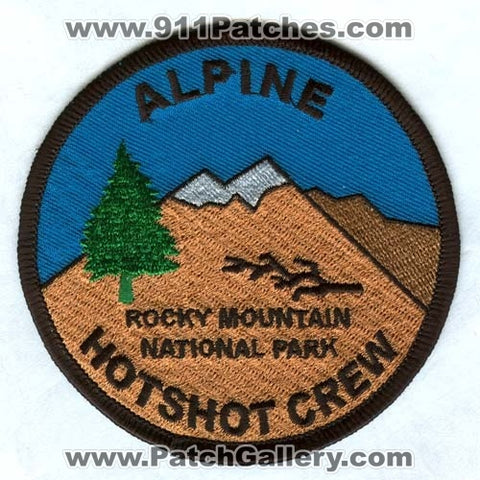 Alpine Hotshot Crew Forest Fire Wildfire Wildland RMNP Patch Colorado CO