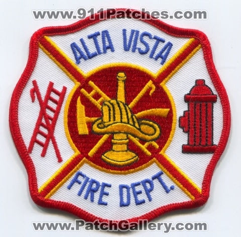 Alta Vista Fire Department Patch Unknown State