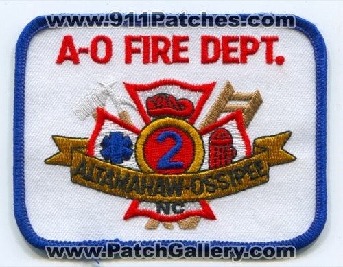 Altamahaw Ossipee A-O Fire Department 2 Patch North Carolina NC