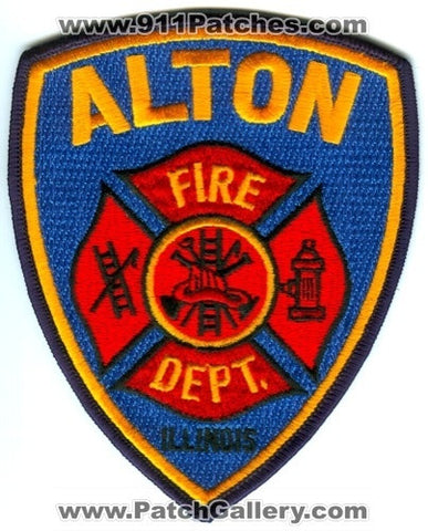 Alton Fire Department Patch Illinois IL