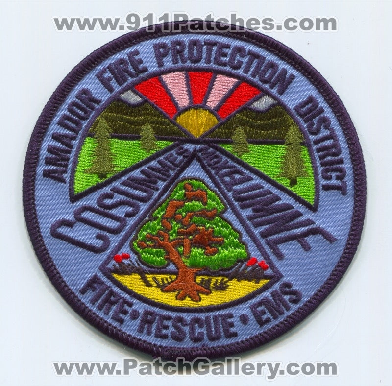 Amador Fire Protection District Patch California CA