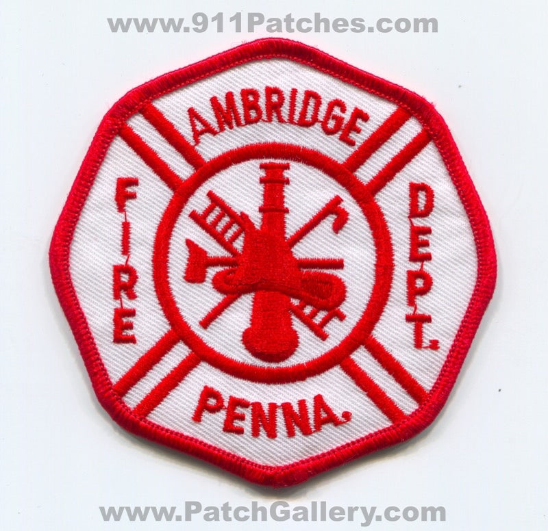 Ambridge Fire Department Patch Pennsylvania PA
