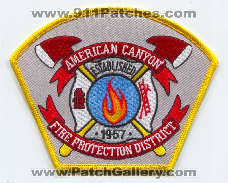 American Canyon Fire Protection District Patch California CA