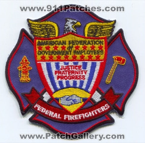 American Federation of Government Employees AFGE Federal Firefighters Patch Washington DC