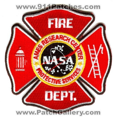Ames Research Center Fire Department NASA Patch California CA