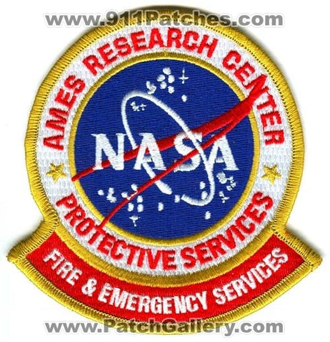 Ames Research Center NASA Fire and Emergency Services Patch California CA