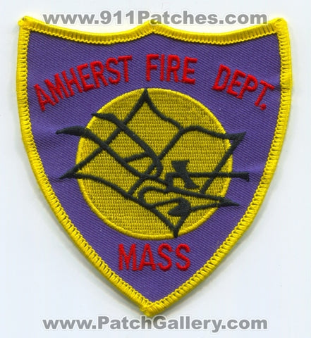 Amherst Fire Department Patch Massachusetts MA