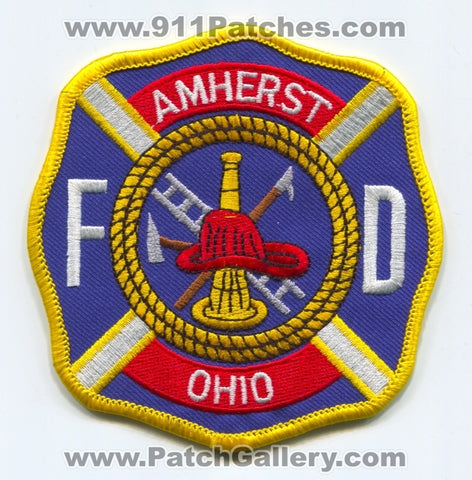 Amherst Fire Department Patch Ohio OH