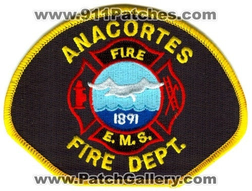 Anacortes Fire Department Patch Washington WA v2 SKUB2