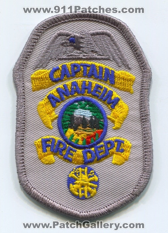 Anaheim Fire Department Captain Patch California CA