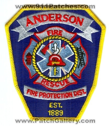 Anderson Fire Protection District 46 Patch California CA