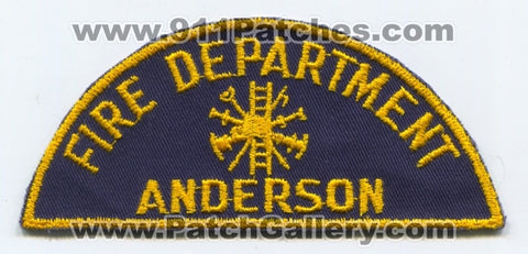 Anderson Fire Department Patch Unknown State