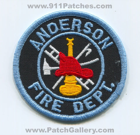 Anderson Fire Department Patch South Carolina SC