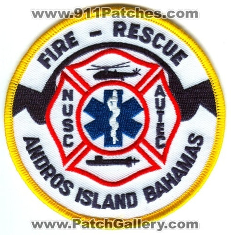 Bahamas - Andros Island Fire Rescue Department USN Navy Military Patch