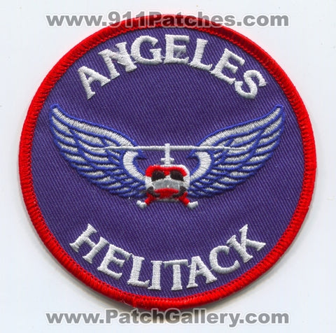 Angeles National Forest Helitack Fire Wildfire Wildland Patch California CA