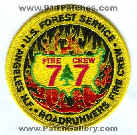 Angeles National Forest Roadrunners Fire Crew 77 Forest Fire Patch California CA