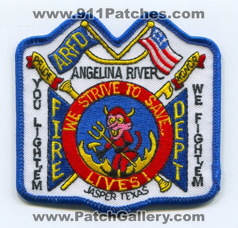 Angelina River Fire Department Patch Texas TX