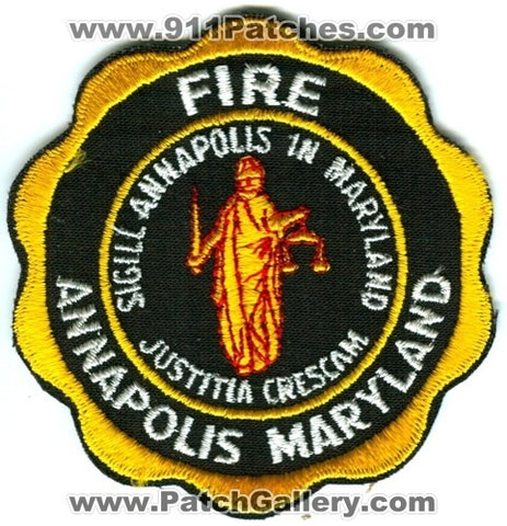 Annapolis Fire Department Patch Maryland MD