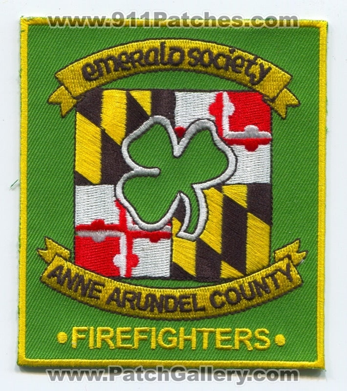 Anne Arundel County Fire Department Firefighters Emerald Society Patch Maryland MD