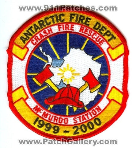 Antarctica - Antarctic Fire Department McMurdo Station Crash Fire Rescue CFR Patch