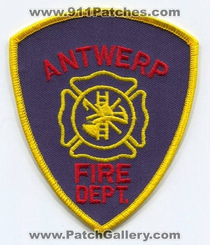 Antwerp Fire Department Patch Unknown State