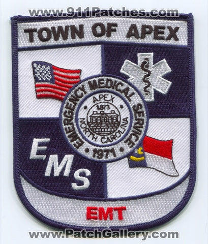 Apex Emergency Medical Services EMS EMT Patch North Carolina NC
