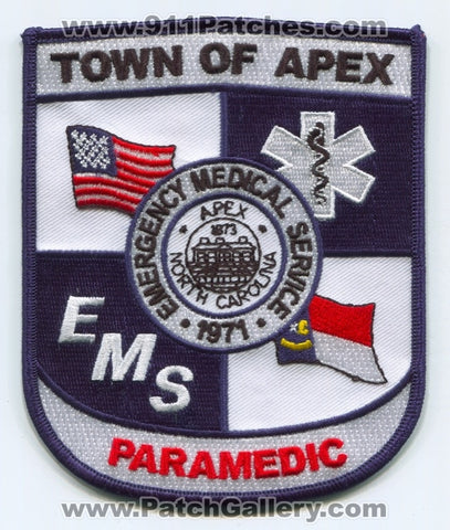 Apex Emergency Medical Services EMS Paramedic Patch North Carolina NC