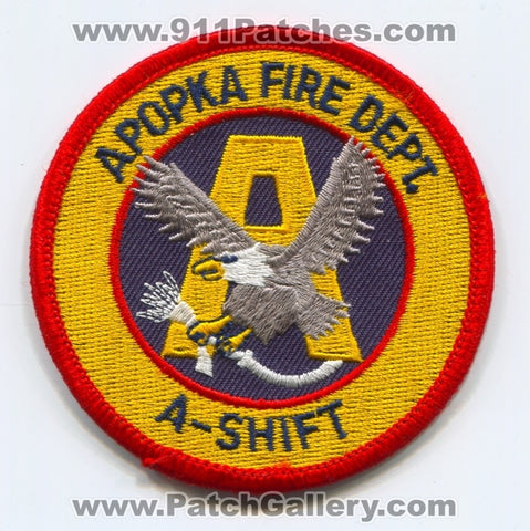 Apopka Fire Department A-Shift Patch Florida FL