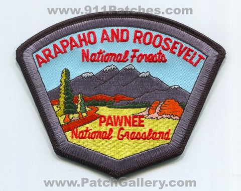 Arapaho and Roosevelt National Forests Fire Wildfire Wildland Patch Colorado CO