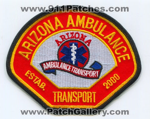 Arizona Ambulance Transport EMS Patch Arizona AZ