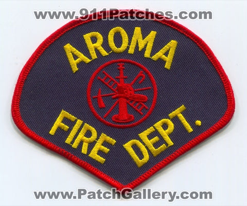 Aroma Fire Department Patch Illinois IL