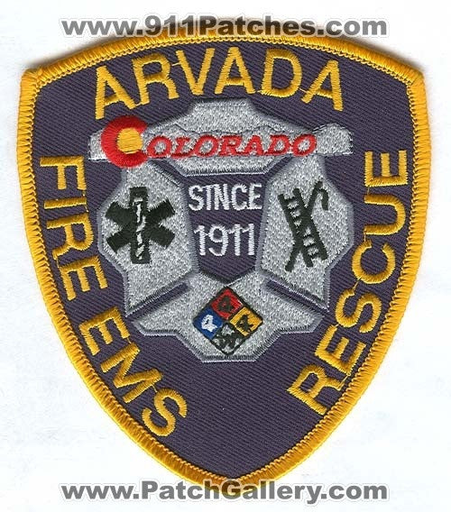 Arvada Fire EMS Rescue Department Patch Colorado CO