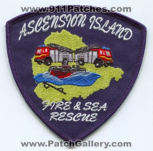 Great Britain - Ascension Island Fire and Sea Rescue Department Patch