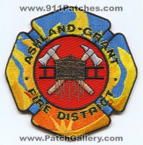 Ashland Grant Fire District Patch Michigan MI
