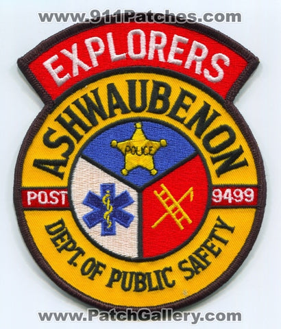 Ashwaubenon Department of Public Safety DPS Explorers Post 9499 Patch Wisconsin WI