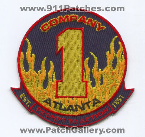 Atlanta Fire Department AFD Company 1 Patch Georgia GA