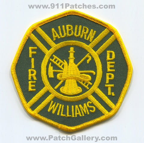 Auburn Williams Fire Department Patch Michigan MI