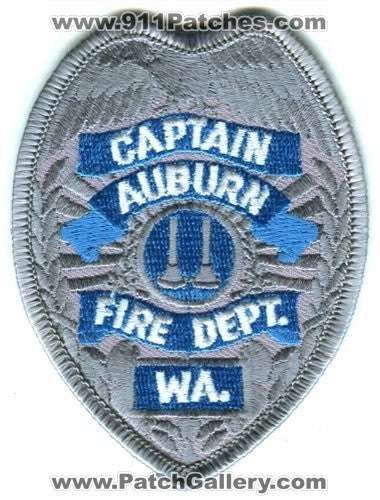 Auburn Fire Department Captain Patch Washington WA