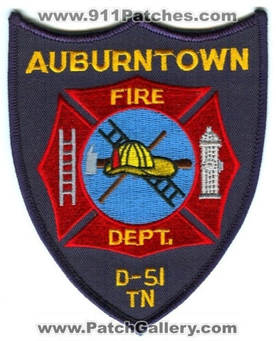 Auburntown Fire Department D-51 Patch Tennessee TN