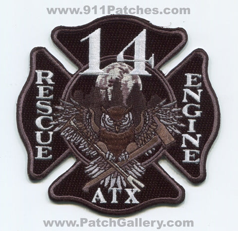 Austin Fire Department Station 14 Rescue Engine Patch Texas TX
